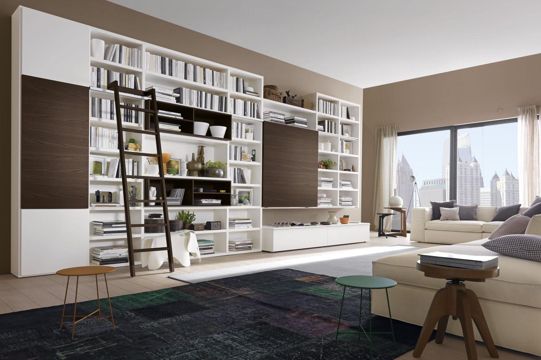 Librerie Con Scala Scorrevole In Legno.Libreria Con Scala Scorrevole Ikea